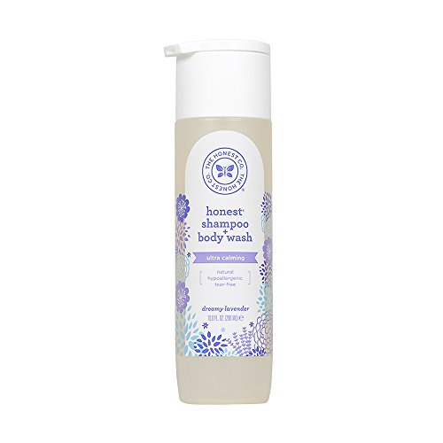 (The Honest Company Truly Calming Lavender Shampoo + Body Wash | Tear Free Baby Shampoo + Body Wash | Naturally Derived Ingredients | Sulfate & Paraben Free Baby Wash | 10 fl. oz.)