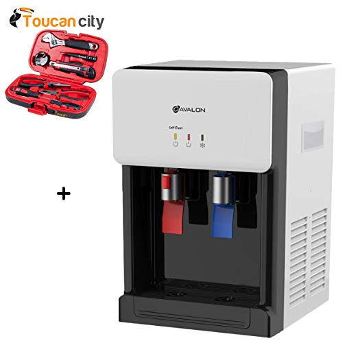 Toucan City Tool Kit (9-Piece) and Avalon Countertop Self Cleaning Bottle-Less Water Cooler NSF Certified Filter UL/Energy Star Approved in White A8CTWHT