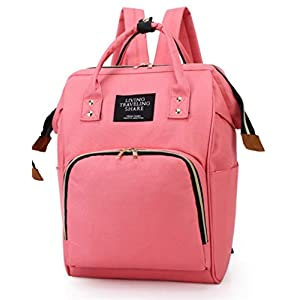 Youngate Large Capacity Backpack Multi-Function Travel Backpack Bags for Mom(Pink)