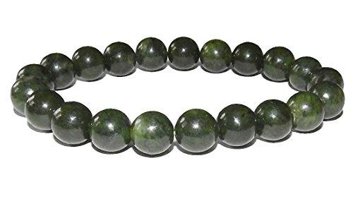 SunnyCrystals 10mm Jade Bracelet 03 Love Heart Chakras Abundant Stone (Gift Box) (7.5) - Jade Bead Love Heart Bracelet