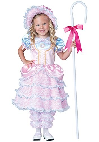 InCharacter Costumes Toddler Little Bo Peep Costume, Pink, Medium (Peep Costumes)