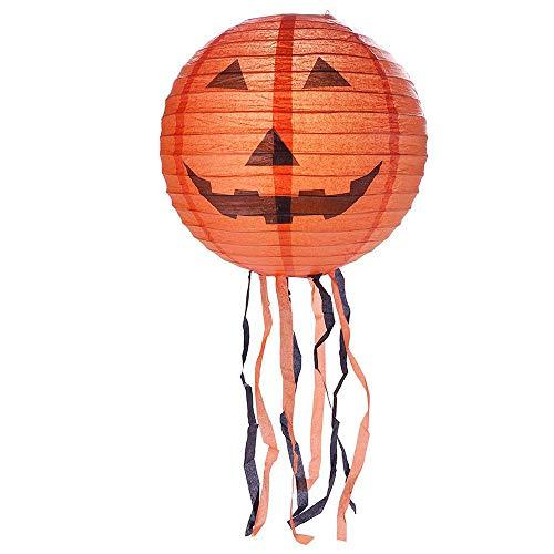 DIY Halloween Lantern New Halloween Paper Scary Pumpkin Hanging Lantern Holiday Party Decor -