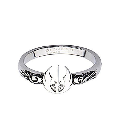 Symbol Cut Out Ring - Women's Stainless Steel Star Wars Jedi Symbol Cut Out Ring Size 6