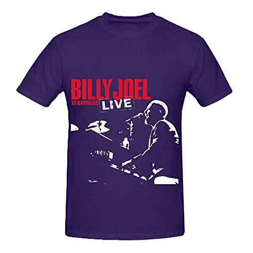 Billy Joel 12 Gardens Live Roll Mens Crew Neck Art Tee Shirts - Under Glasses Shows Clothes