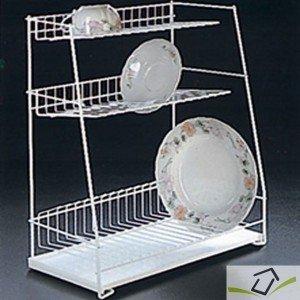 Metaltex 324344 Dish Drying Rack 3-Tier 44 x 50 cm by Metalt