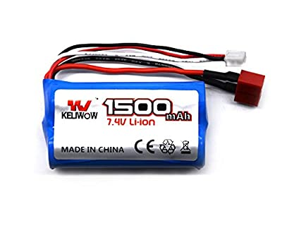 Zerospace Keliwow 7.4V 1500mAH 2S 25C Lithium Battery For 1/12 Full Scall RC Car for Fighter1 Extreme2 Eagle3 Charge4 X-King5