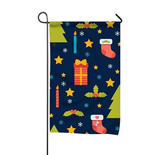 BaiGrid Christmas Merry Clip Art Welcome Garden Flag Vertical Outdoor and ()