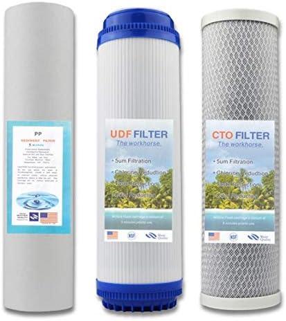 NTS 3 filtros de carbón Activado de Filtro de Agua Universal ...