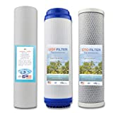 NTS 3pcs Universal Water Filter Activated Carbon Cartridge Filter,Water Purifier Filter,