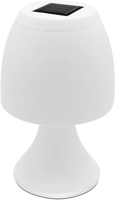 Grundig Lámpara de Mesa LED Solar, 12 x 19 cm, Incluye 1 Pila AAA ...