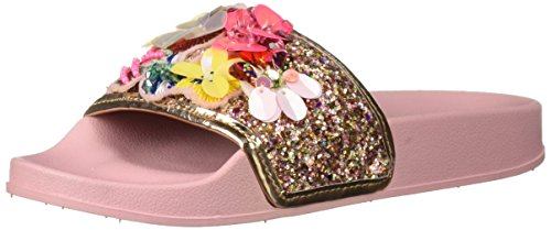 Steve Madden Girls' JKOOLBEE Slide Sandal, Blush, 2 M US Little Kid ()