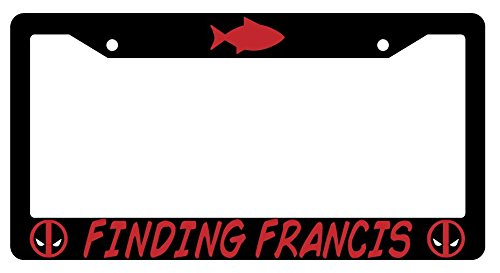 Finding Francis High Quality Black Plastic License Plate Frame (Frame Findings)