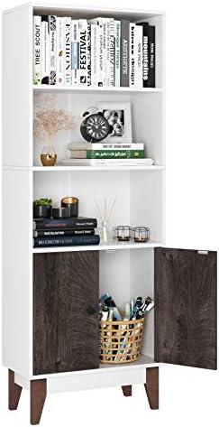 Homfa 4 Tier Bookcase Storage Cabinet