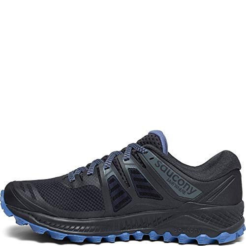 Saucony Women's Peregrine ISO Trail Running Shoe, Gunmetal, 5.5 W US by Saucony (Image #1)