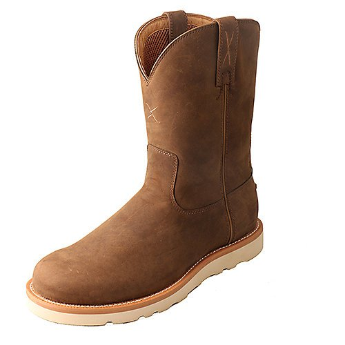 Twisted X Men's Distressed Saddle Casual Boot Round Toe Brown 12 EE US by Twisted X