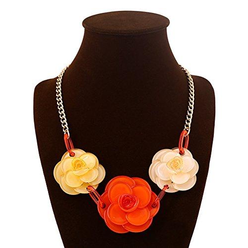 JewelryLove Acrylic Flower Statement Necklaces
