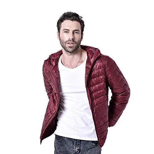 Emmala Jacket Outdoor Hooded Long Cosy Color Winter Jacket Down Coat Sleeve Winered Lightweight Hooded Men's Outerwear Jacket Plain 4wO4fxqr