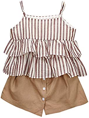 0ce078d0f6 Amazon.com  Euone ❀ for 0-7 Years Old Kids Clothes Set