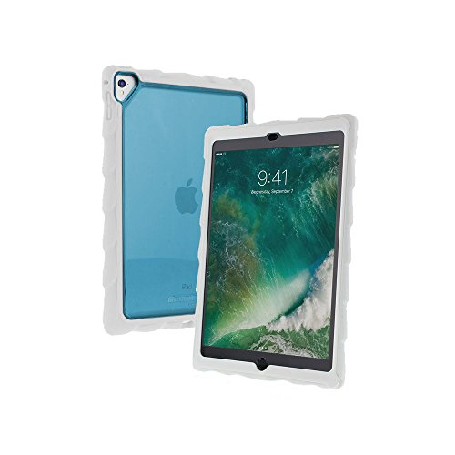 Gumdrop Cases DropTech Clear Protection for The New Apple iPad 9.7, 6th Gen and, 5th Gen, White/Blue, Rugged, Shock Absorbing, Custom Molded Tablet Cover