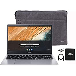 2020 Acer Chromebook 15.6″ Thin Light Laptop for Business and Student, Intel Celeron N4000(up to 2.60 GHz), 4GB RAM, 32GB eMMC, Protective Sleeve, Webcam,USB-C, Bluetooth, Chrome OS w/GM Accessories