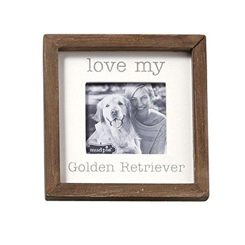 Golden Retriever Frame - Mud Pie Love My Golden Retriever Small Square Plaques,Multicolor,5x5 inches