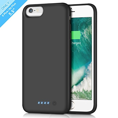 Battery Case for iPhone 6s Plus/ 6 Plus 8500mAh, Rechargeable Extended Charging Case for iPhone 6Plus Battery Pack Apple 6s Plus Portable Power Bank [5.5 inch]- Black