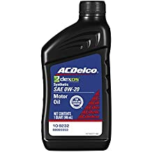 ACDelco 10-9232 Professional dexos1 0W-20 Synthetic Motor Oil - 1 qt