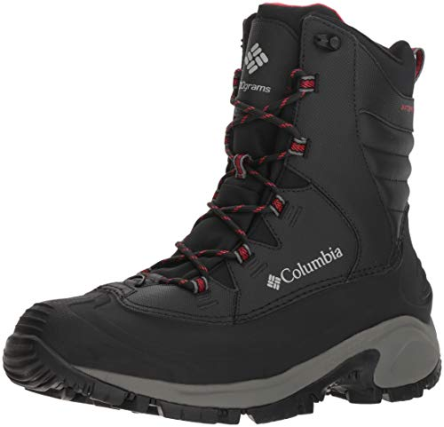 Columbia Men's Bugaboot III Mid Calf Boot, Black, Bright red, 10 Regular US]()