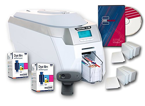 Magicard Rio Pro Dual Side ID Card Printer & Supplies Package with Card Imaging Software by Magicard