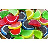 FirstChoiceCandy Assorted Fruit Jell Slices 1 Pound 16 oz In a Resealable Bag