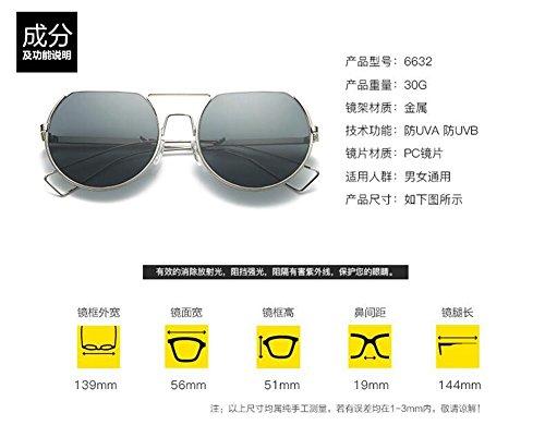 inspirées Feuille Grise cercle B vintage en soleil retro style Lennon rond du métallique de polarisées lunettes qFgOn1txp