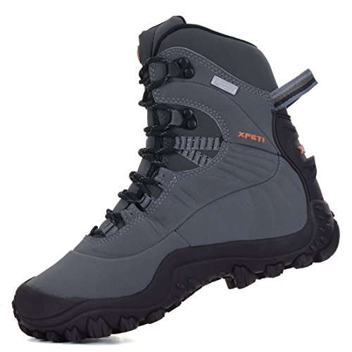 XPETI Women's Waterproof Mid High-Top Hiking Mountaineering Trekking Outdoor Boot Light Grey 10 by XPETI (Image #2)