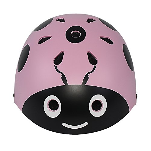 Cheap LANOVAGEAR Kids Adjustable Ladybug Helmets CPSC Certified Cartoon Cute Skateboard Cycling Skate Helmet for Outdoor Sports Safety