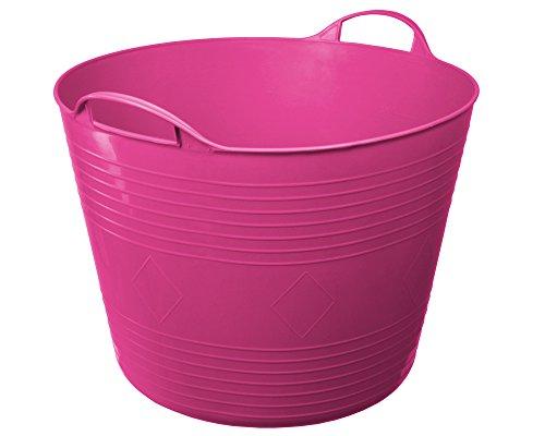 Flexi Tub Tragekorb Gartenkorb Wäschekorb Spielzeugeimer 40 Liter pink rund