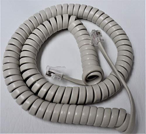 Off White Medium (12' Ft) Handset Cord for Clarity Phone Alto-Plus P300 P400 XL 30 40 40D 45 45D 50sII 50 Ameriphone C200 C210 C320 C35 JV-35 C W 1000 Alto Big Button E814CC by DIY-BizPhones