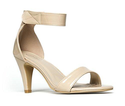 J. Adams Women's Ankle Strap Open Peep Toe High Heels | Dress, Wedding, Party Heeled Sandals | Elegant, Comfortable & (Elegant Strappy Sandal)