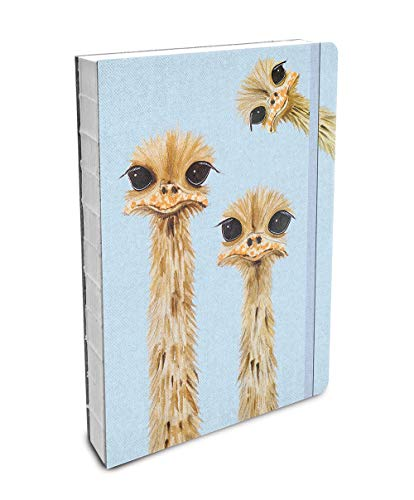 Studio Oh! Hardcover Compact Deconstructed Journal, Rachel Brown Ostriches