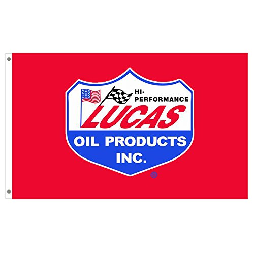Lucas Racing Flags Banner 3X5FT 100% Polyester,Canvas Head w