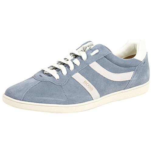 Hugo Boss BOSS Orange by Men's Rumba Tennis Suede Sneaker, Pastel Blue, 8 Regular US
