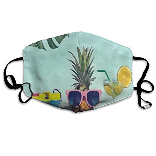 Mouth Mask Retro Camera Pineapple Fruit Starfish Leaves Anti-dust Face Mask -