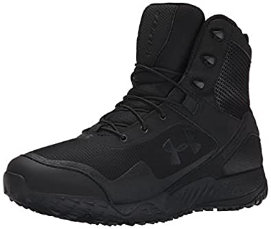 Under Armour Men's Valsetz RTS Side-Zip Tactical Boots, Black/Black, 10 D(M) US