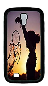 NBcase Girl with Dreamcatcher Hard PC phone case for samsung galaxy s4