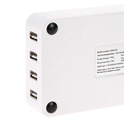 Iextreme 4 USB Port Power Supply Board Socket Charger - White by Iextreme (Image #3)