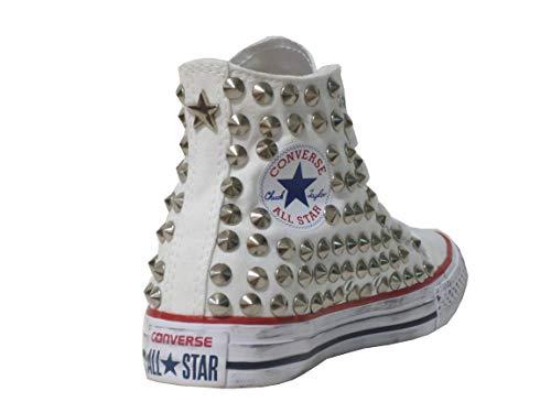 Stella Optical Alte All Artigianale Converse Borchie prodotto White Borchiate Star Bianco 1AnFqOU