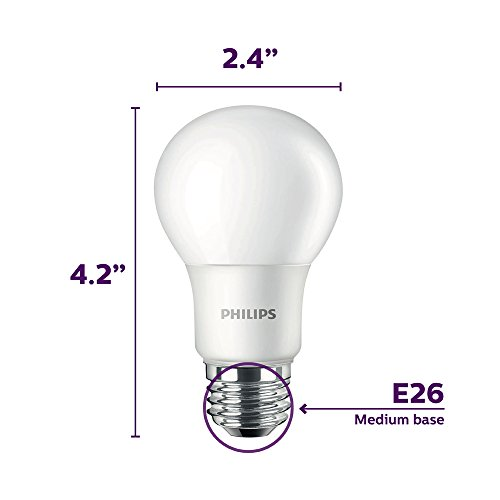 philips led non dimmable a19 frosted light bulb 1500 lumen 5000 kelvin 14 watt 100 watt. Black Bedroom Furniture Sets. Home Design Ideas