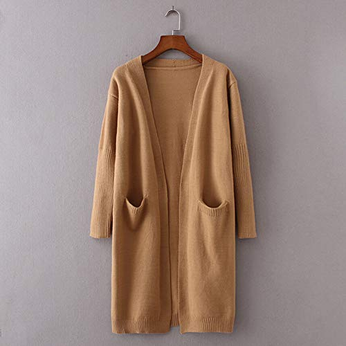 Oversized Baggy Color Tops Winter BaZhaHei Shirt Block Long Khaki Sweater Women Cardigan Knitted Patchwork Cardigan Coat Sexy Jumper Shirt Chunky EfPwqxgwn
