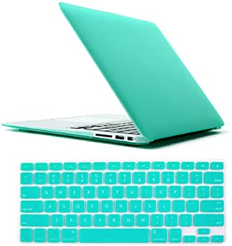Tifany Blue Rubberized Hard Case Cover Skin for MacBook AIR 11/& PRO 13 15 Retina