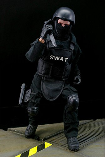 1/6 Soldier Figure Doll SWAT Black Uniform Model Toy Military Army Suit clothes