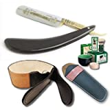 DOVO 5/8 BUFFALO HORN HANDLE STRAIGHT RAZOR