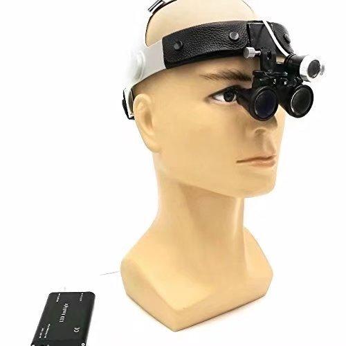 Ocean Aquarius Surgical Binocular 3.5X420mm Loupes Leather Headband With 3W LED Headlight Lamp DY-108TD